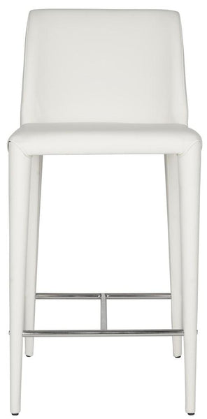Garretson Counter Stool (Set of Two) White Front View