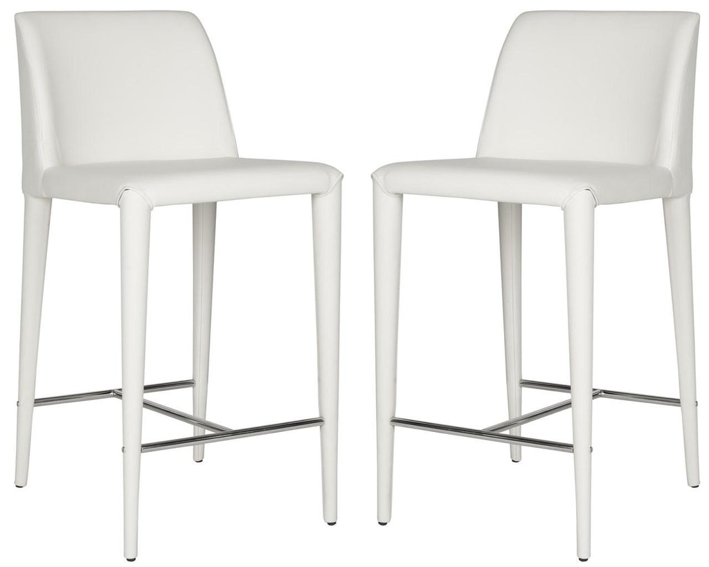 Garretson Counter Stool (Set of Two) White Pair Front View