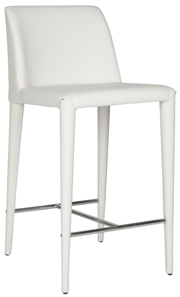 Garretson Counter Stool (Set of Two) White Front Corner View
