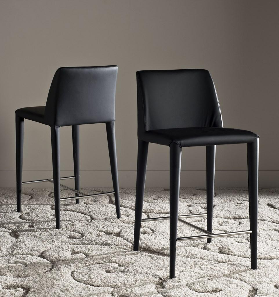 Garretson Counter Stool (Set of Two) Black Pair Front View