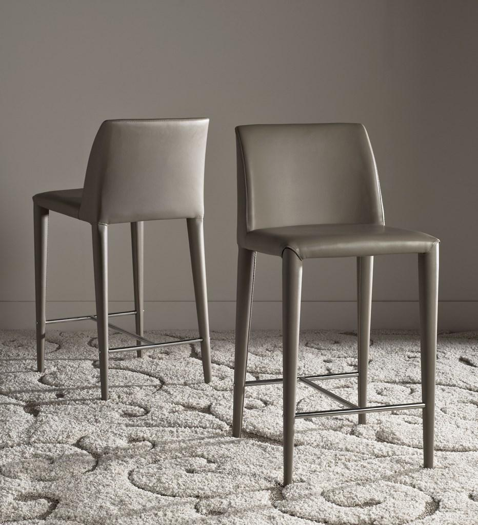 Garretson Counter Stool (Set of Two) Taupe Pair Front View
