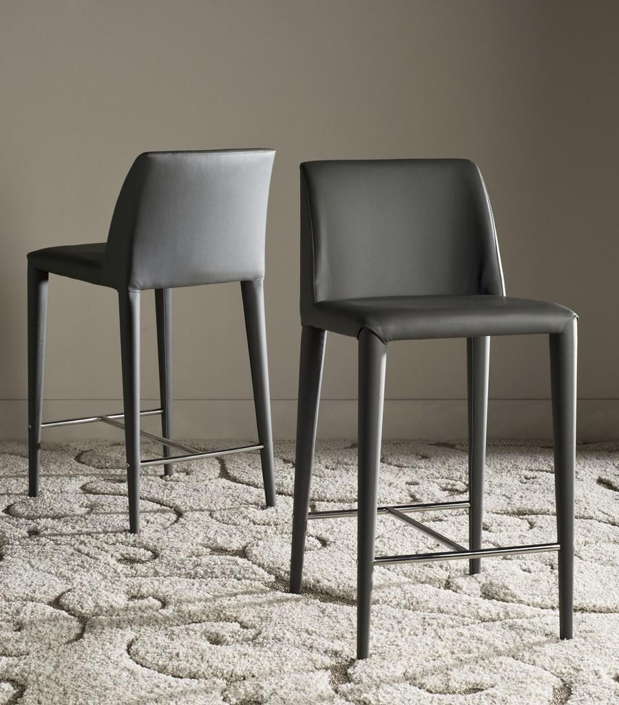 Garretson Counter Stool (Set of Two) Gray Pair Front View