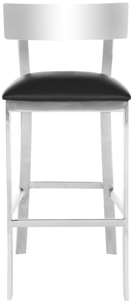 "Safavieh Abby 39""H Stainless Steel Bar Stool - Available in Black or White"