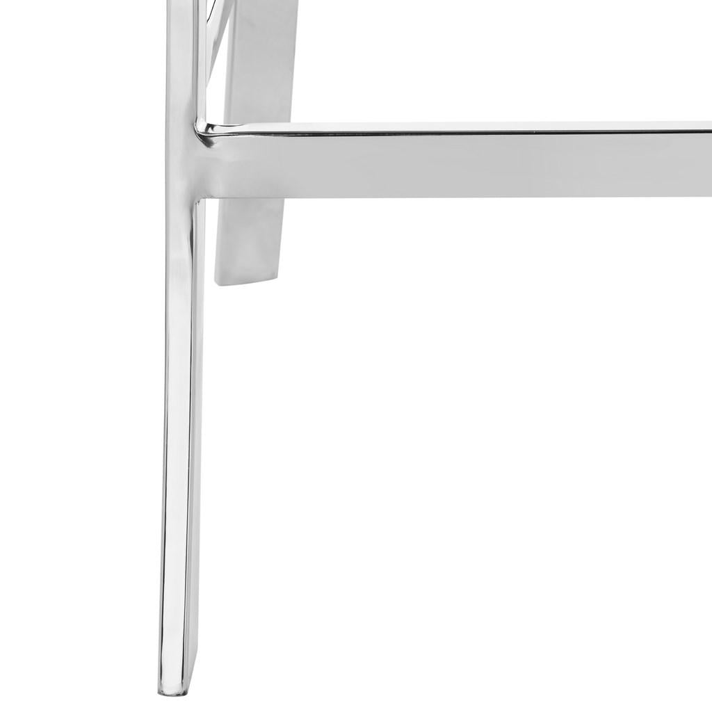 "Abby 39""H Stainless Steel Bar Stool Detailed Legs View"
