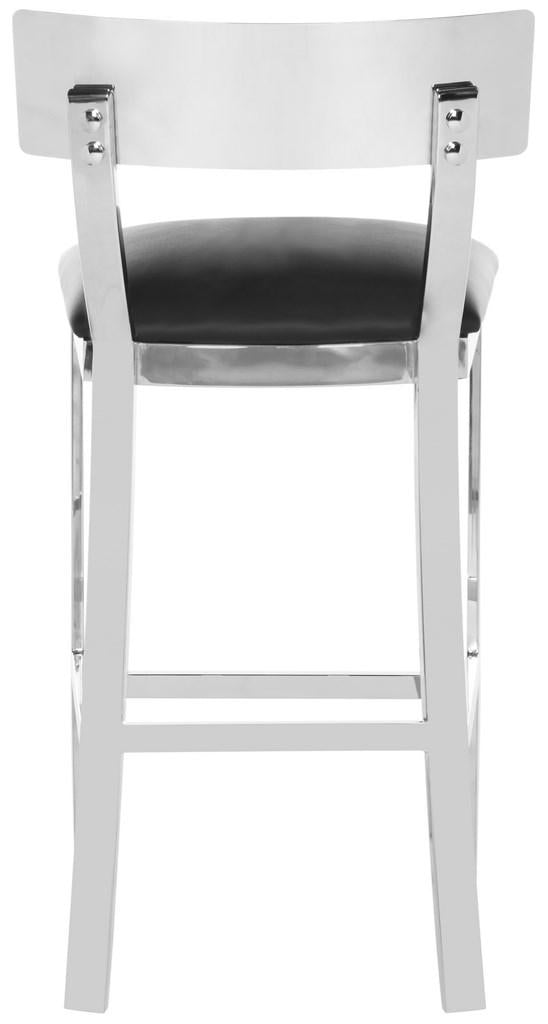Abby Stainless Steel Counter Stool Back View
