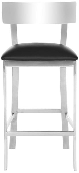 "Safavieh Abby 35""H Stainless Steel Counter Stool - Available in Black or White"