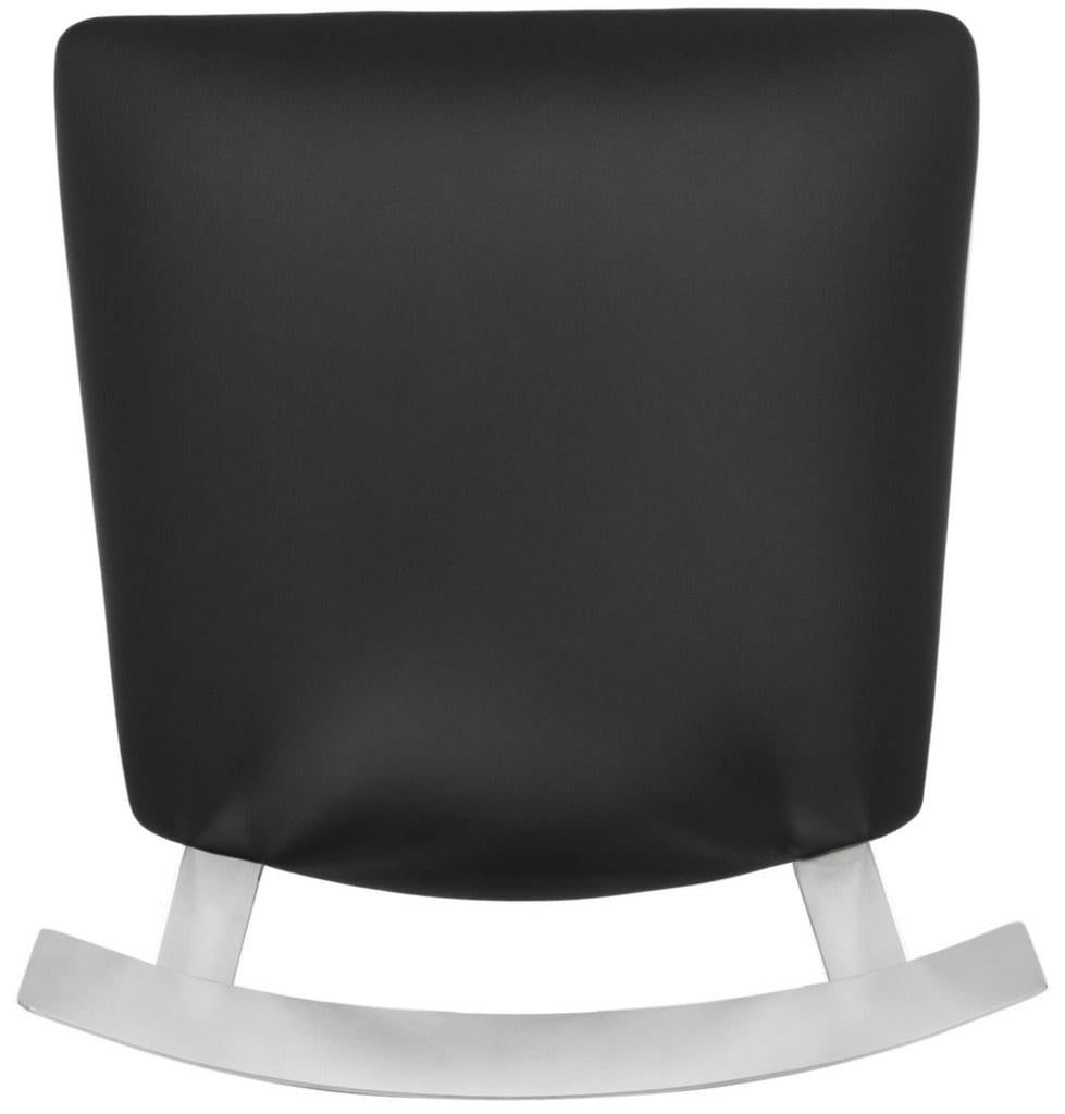 Abby Stainless Steel Counter Stool Black Top View