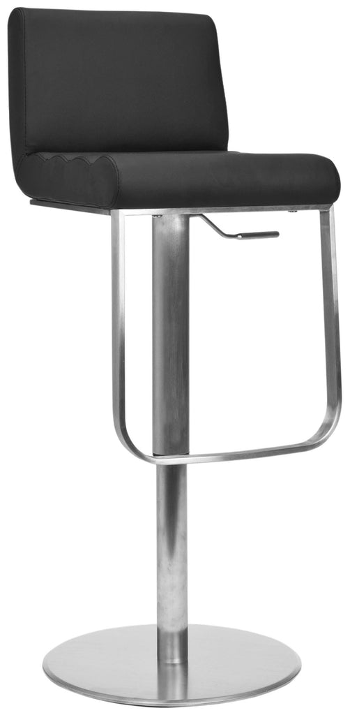 Stanley Gas Lift Swivel Bar Stool Front Corner View