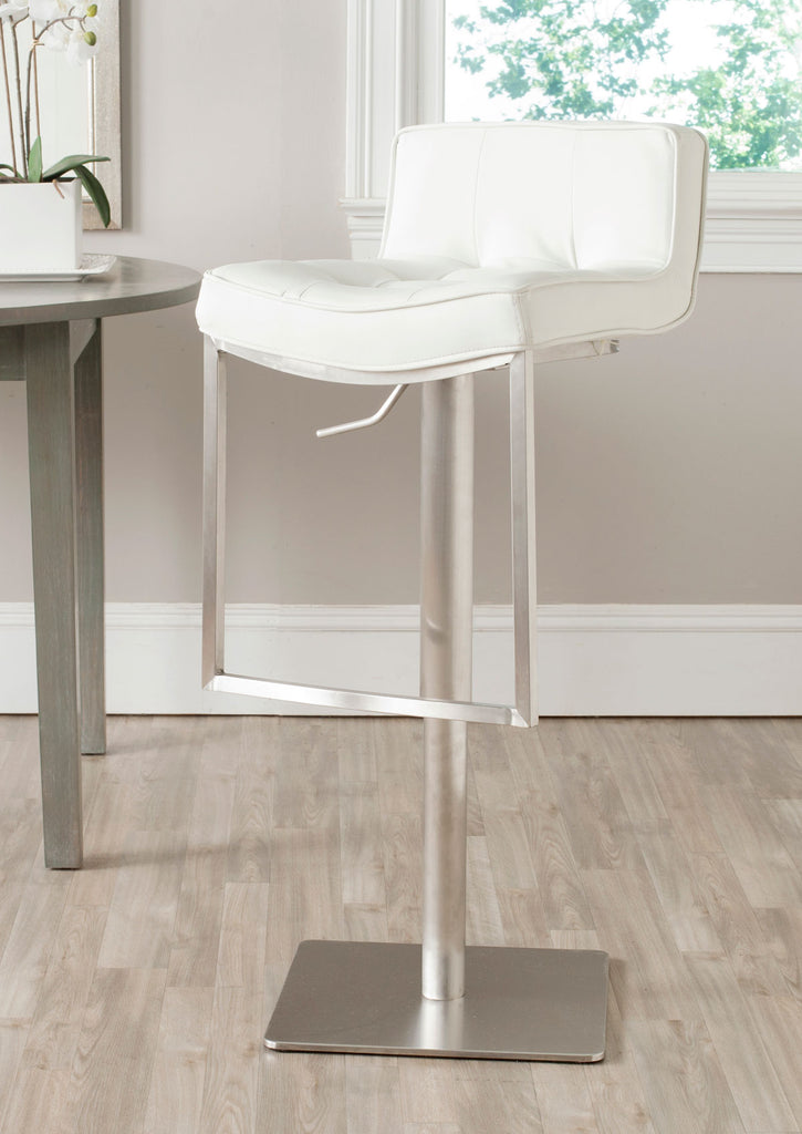 Newman Adjustable Swivel Bar Stool White Live View