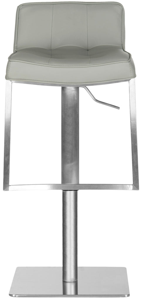 Newman Adjustable Swivel Bar Stool Gray Front View