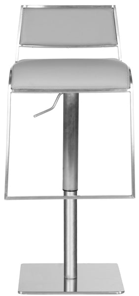 Natania Adjustable Swivel Bar Stool Front View
