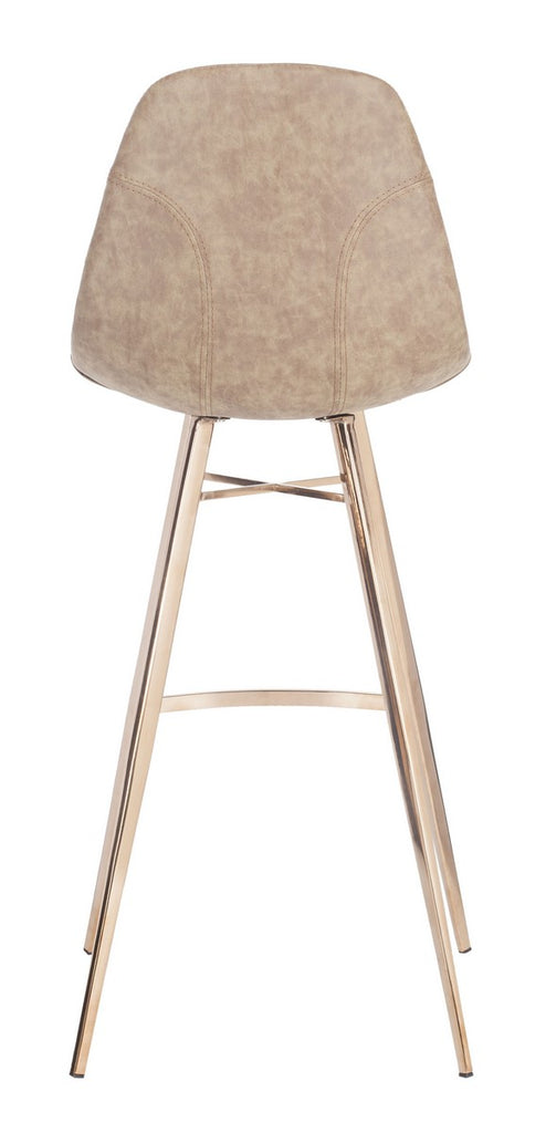 Mathison Bar Stool Taupe Back View