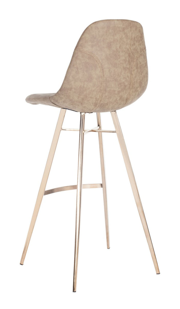 Mathison Bar Stool Taupe Back Corner View