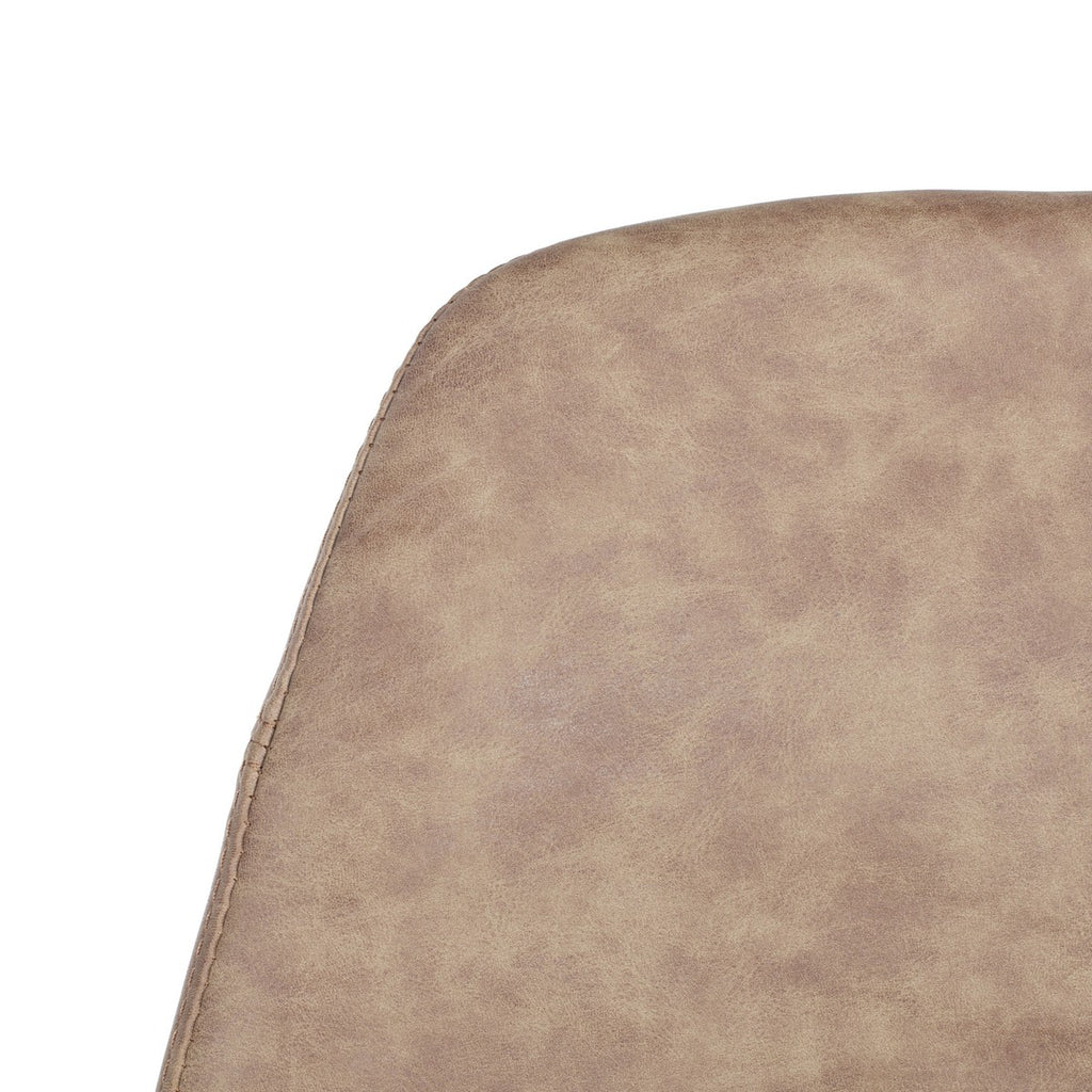 Mathison Bar Stool Taupe Detailed Seat View