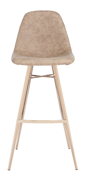 Mathison Bar Stool Taupe Front View