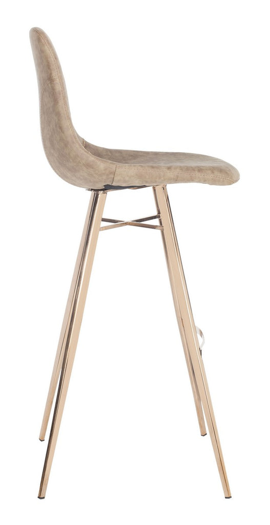 Mathison Bar Stool Taupe Side View