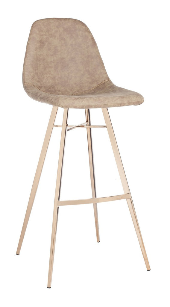 Mathison Bar Stool Taupe Front Corner View
