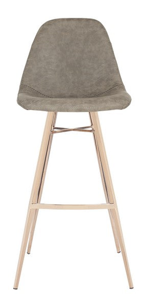 Mathison Bar Stool Brown Front View