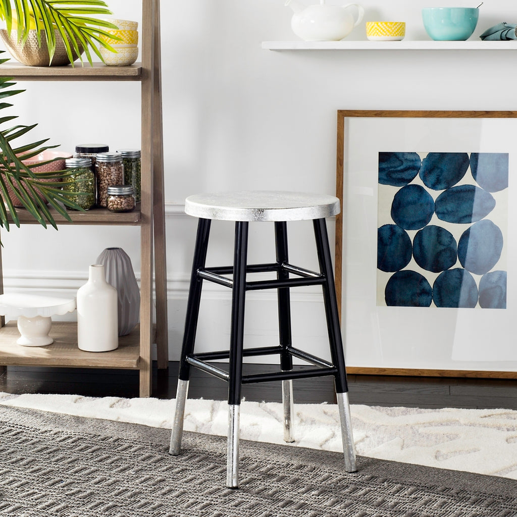 Kenzie Silver Dipped Counter Stool  Live View