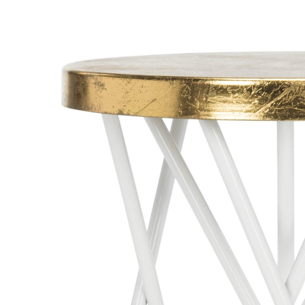 Lorna Gold Leaf Counter Stool  Top Detail View
