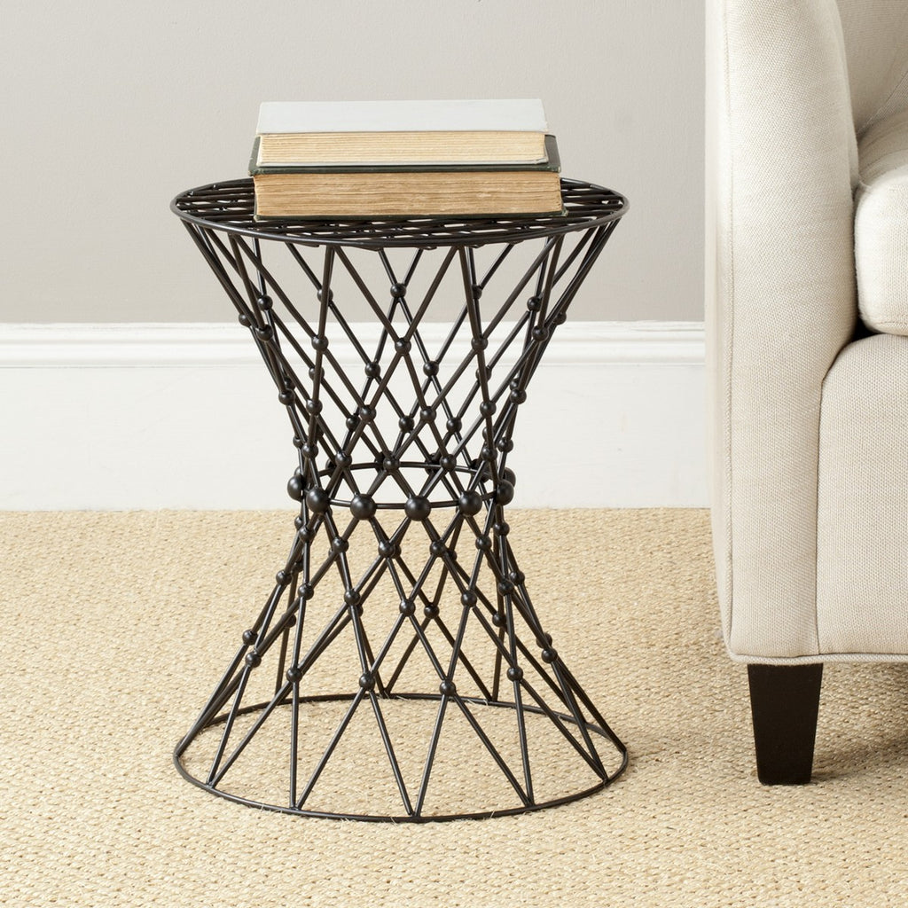 Safavieh Charlotte Iron Wire Stool Lifestyle View