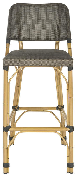 Deltana Stacking Bar Stool Brown Front View