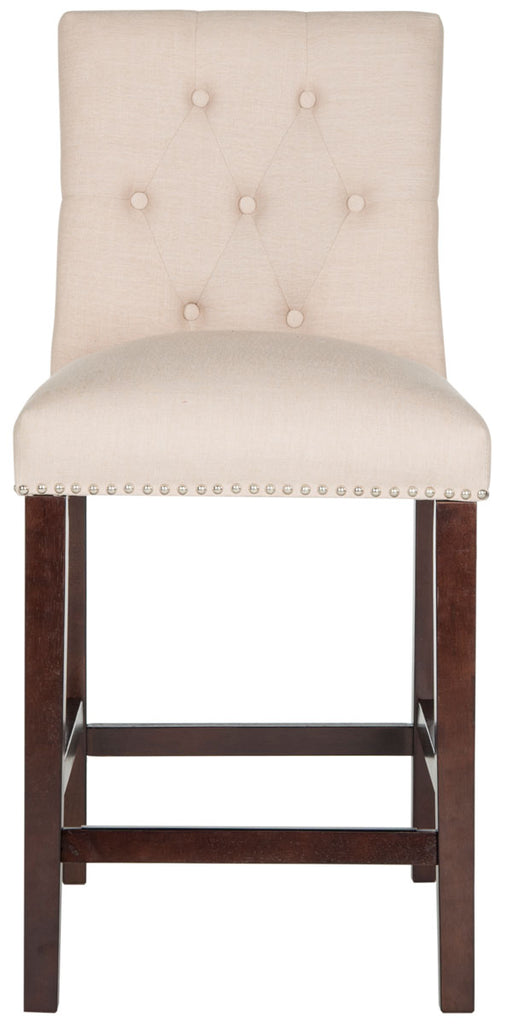 Norah Counter Stool (Set of 2) Beige Front View