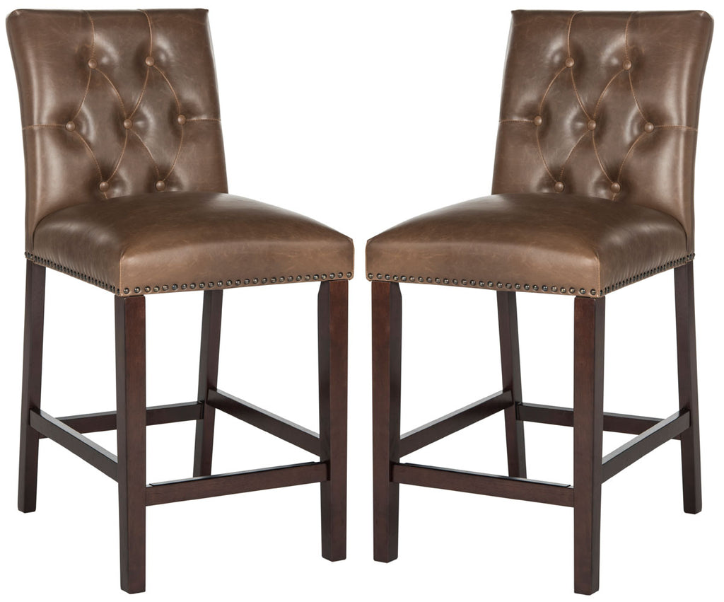 Norah Counter Stool (Set of 2) Brown Front View