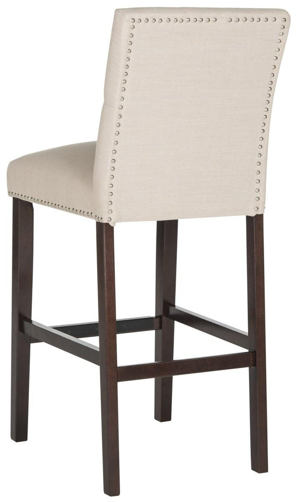 Norah Bar Stool (Set of 2) Beige Back View