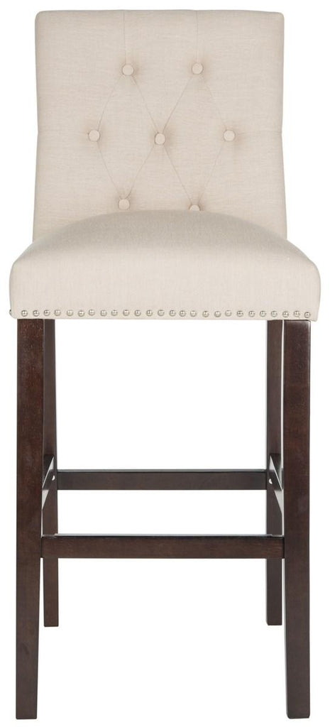 Norah Bar Stool (Set of 2) Beige Front View