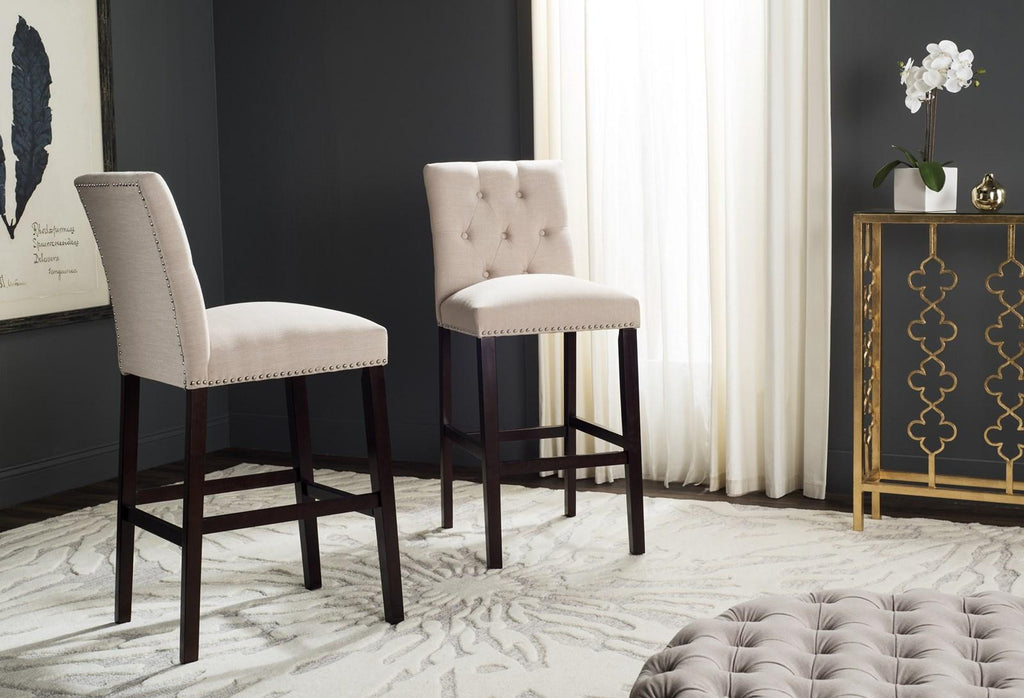 Norah Bar Stool (Set of 2) Beige Pair Live View