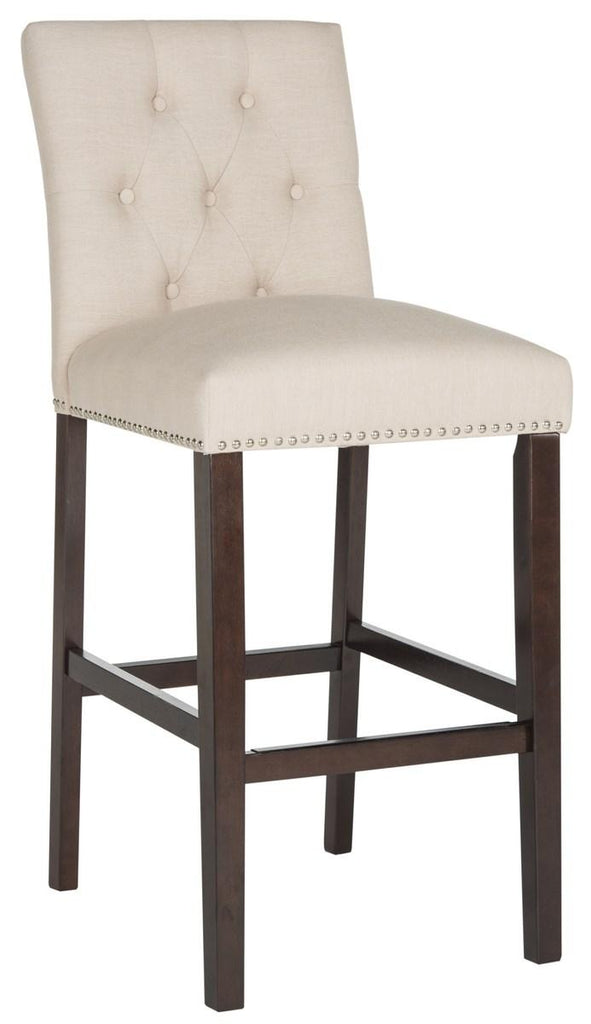 Norah Bar Stool (Set of 2) Beige Pair Front Corner View