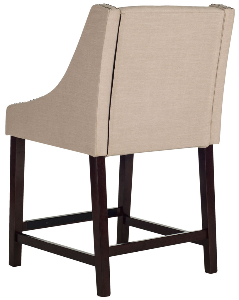 Safavieh  Dylan Counter Stool - Available in Beige, Taupe, Navy, Light Gray or Brown