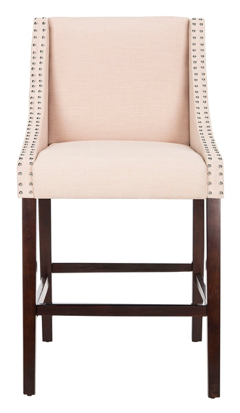 Safavieh Dylan Bar Stool - Available in Beige, Taupe, Navy, or Light Gray