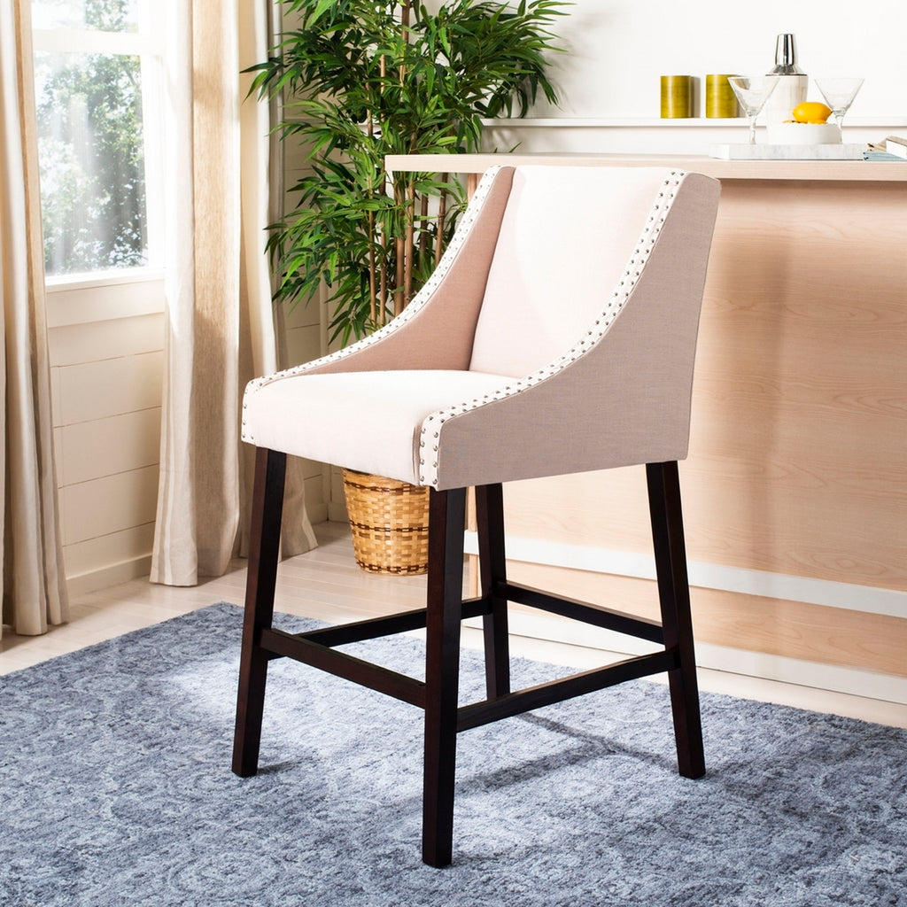Safavieh Dylan Bar Stool - Available in Beige or Taupe