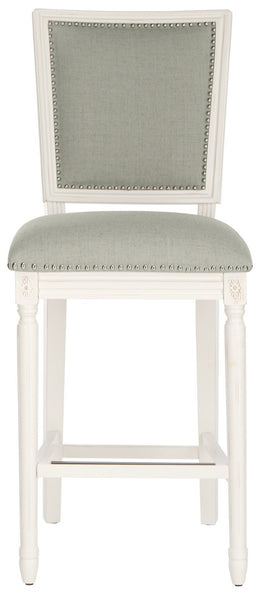 Safavieh Buchanan Rectangle Bar Stools (Set of 2) - Available in Light Grey, Beige, Navy or Light Beige