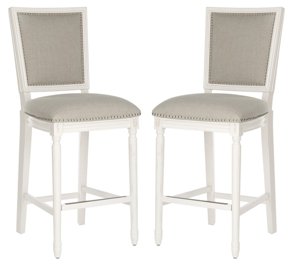 Buchanan Rectangle Bar Stools (Set of 2) Pair Light gray front View