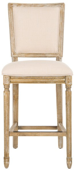 Buchanan Rectangle Bar Stools Light Beige Front View