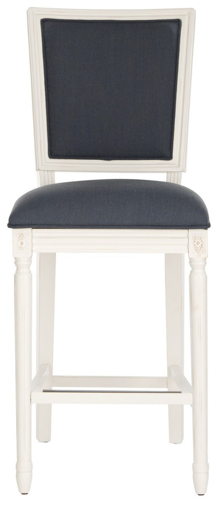 Buchanan Rectangle Bar Stools (Set of 2) Navy Blue Front View