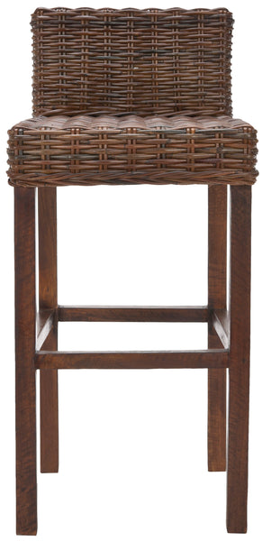 Cypress Bar Stool Brown Front View