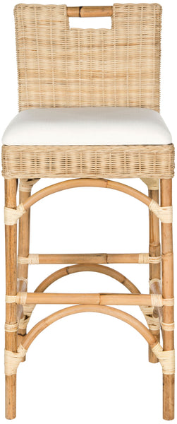 Safavieh Fremont Bar Stool - Available in Natural, White or Brown