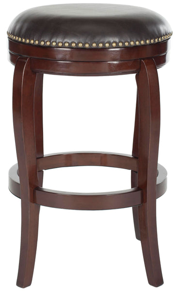 Nuncio Swivel Bar Stool Sierra Brown Front View