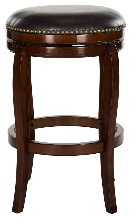 Nuncio Swivel Bar Stool Expresso Front View