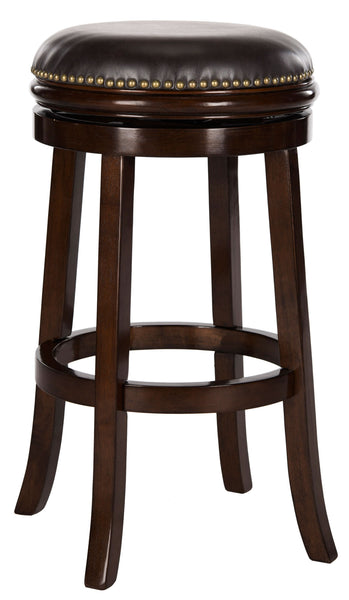 Safavieh  Biagio Swivel Bar Stool - Available in Sierra Brown, Espresso, Black or Walnut