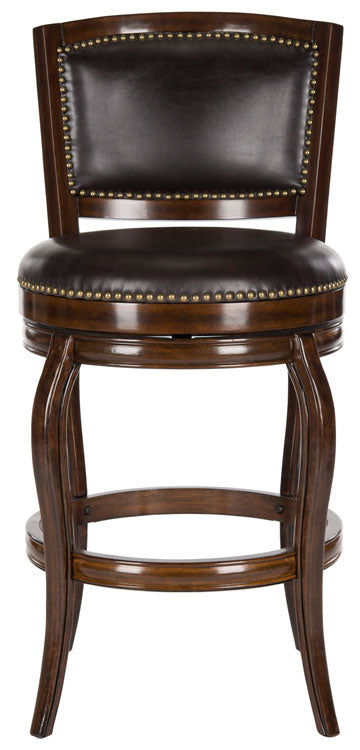 Safavieh Pasquale Swivel Bar Stool - Available in Sierra Brown, Espresso, Black or Walnut