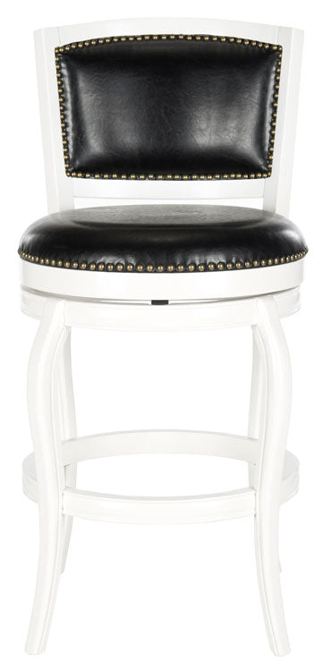 Safavieh Pasquale Swivel Bar Stool Front View