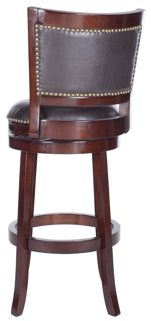 Safavieh Lazzaro Swivel Bar Stool - Available in Sierra Brown, Espresso, Black or Walnut