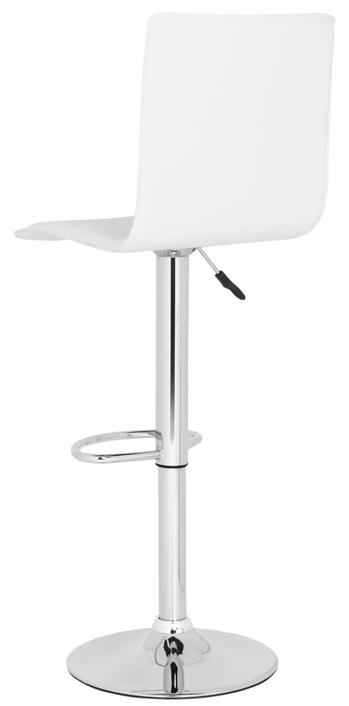 Magda Swivel Bar Stool  White Corner View
