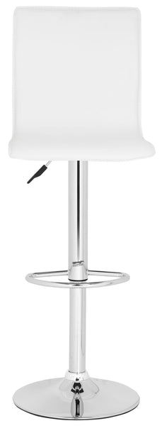 Magda Swivel Bar Stool  White Front View