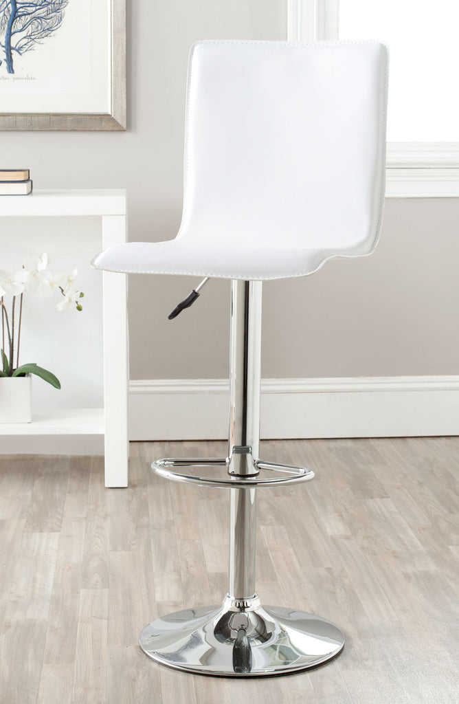 Magda Swivel Bar Stool  White Back View